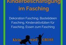 Fasching Kinderbeschäftigung / Dekoration Fasching, Bastelideen Fasching, Kinderaktivitäten für Fasching, Essen zum Fasching
