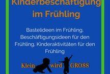 Kinderbeschäftigung Frühling / Bastelideen Frühling, Beschäftigungsideen Frühling, Kinderaktivitäten Frühling