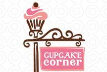 Cup Cake Corner :) / Yummy Cup Cakes, impossible to eat... only illustration, watercolor,art...