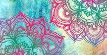 Watercolours and Mandalas