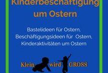 Ostern Kinderbeschäftigung / Bastelideen Ostern, Beschäftigungsideen Ostern, Kinderaktivitäten Ostern