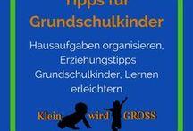 Tipps für Grundschulkinder / Hausaufgaben organisieren,  Erziehungstipps Grundschulkinder, Lernen erleichtern