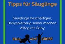 Tipps für Säuglinge / Säuglinge beschäftigen, Babyspielzeug selber machen, Alltag mit Baby