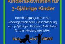 Kinderaktivitäten für 3-6jährige / Beschäftigungsidee für Kindergartenkinder, Beschäftigung von 3-6jährigen Kindern, Aktivitäten für das Kindergartenalter