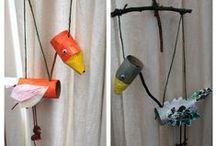 Reciclaje / Ideas chulas para hacer con niños reciclando. Una manera creativa de aprender a cuidar el medio ambiente en familia.