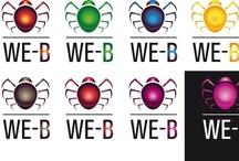 Logo WE-B (Studio) / Studio per il Logo di http://we-b.it; dalle bozze di Claudio Crognali all'elaborazione grafica di Marcello Gatti, fino al rendering in 3D