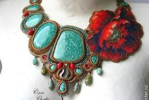 Bead embroidery 2 / Bead embroidery necklaces  / by Exclusive Craft
