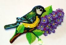Beaded creatures / Bead embroidery