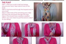 Chic Scarf Tying Tips / Great ways to wear your scarves!