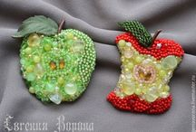 Beaded brooch / Bead embroidery
