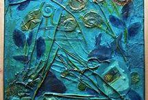 Mixed Media Art Pegasus Paper Art / Mixed media art made by Ellen Weijers