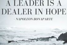 Leadership Quotes / Inspiring leaderships quotes. Features SGR's weekly leadership quote.