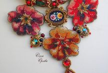 Bead embroidery necklace 3