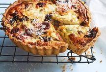 Savoury tarts / Savoury tarts, quiches, frittatas.