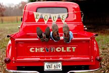 Vintage Truck Photography Ideas / For my clients who want to use my Classic Chevy Step-Side Pickup Truck for their photo session! (Vintage Truck posing ideas...)