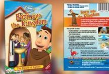 """Born into the Kingdom - Baptism / In this happy presentation, Brother Francis invites us to share in the realities of the Sacrament of Baptism and the union it provides us with God's big family! Filled with instruction and inspiration, """"Born into the Kingdom"""" is a great reminder of God's wonderful grace!"""