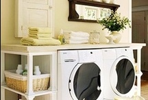 Laundry Rooms - Loads of fun! / Ideas to design, organize, or create storage in your laundry room