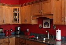 RED KITCHENS / by Kimberly