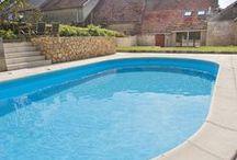 Frankrijk 2014 - achtertuin zwembad / http://www.frettes.nl/zwembad.html