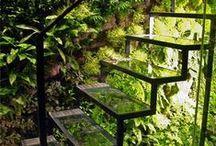 escaliers et portes intérieurs