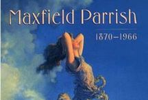 "Maxfield Parrish / American painter and illustrator born in Philadelphia, Pennsylvania, later moved to New Hampshire. Spent time in Europe and other parts of the United States.  ""Helped shape the Golden Age of illustration and the future of American visual arts."""