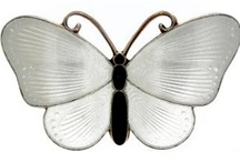 Norwegian enamel butterfly brooches