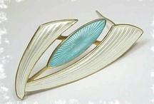 Aksel Holmsen enamel jewelry