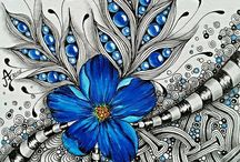 Zentangles, tangles & doodles / Tangles and doodles that caught my eye... tips, instruction and beautiful artworks