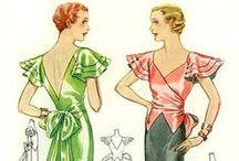 [1930s] ~ evening wear / │ 1930s vintage fashion │ evening wear │evening gowns │
