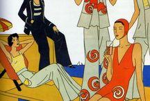 [1930s] ~ beach pajamas / | 1930s vintage fashion | beach pajamas | lounging suits |