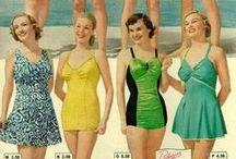 [1940s] ~ swimwear / ★ 1940s vintage fashion ★ swimwear ★