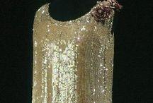 [1920s] ~ metallic fashion / │1920s vintage fashion │ metallic clothing │ silver & gold │ sequins & lamé │