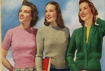 [1940s] ~ knits & sweaters / ★ 1940s vintage fashion ★ knitwear & sweaters ★