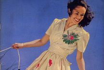 [1940s] ~ casual fashion / │1940s vintage fashion │ casual styles │summer clothing │