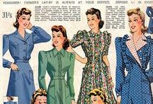 [1940s] ~ day wear / ★ 1940s vintage fashion ★ day dresses & clothing ★