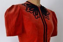 [1940s] ~ red & black fashion / ★ 1940s red and black fashions ★