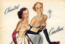 1950s fashion advertisements / vintage fashion advertisements from the 1950s about clothing, accessories, shoes, cosmetics, or jewelry  • magazine illustrations  • catalogs