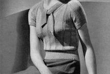 [1930s] ~ knits & sweaters / ★1930s vintage fashion ★ knitwear and sweaters ★