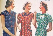 [1930s] ~ day dresses / │1930s vintage fashion │everyday dresses for home or routine activities │ 30s fashion │