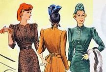 [1930s] ~ town & event fashion / │1930s vintage fashion │ smart-looking dresses and fashions  that might be worn into town for shopping or business, or to fashionable events │
