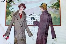 [1920s] ~ coats & jackets / │1920s vintage fashion│day coats and outdoor wear │ it was popular in the 1920s for a day coat to be trimmed with fur │ outdoor accessories │