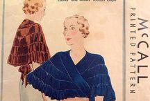 [1930s] ~ evening coats & capes / │1930s evening coats & capes │ evening accessories │ '30s fashion │