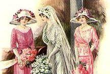 1910s bridal fashions / │1910s vintage fashion │bridal fashions │wedding gowns │bridesmaids dresses │