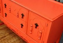 Websters & Orange! / Websters Chalk Paint Powder mixed with our favorite shades of orange!