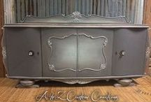 Websters & Greys! / Websters Chalk Paint Powder mixed with our favorite shades of GREY!!!