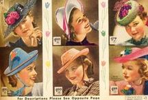 [1930s] ~ hats & accessories / ★ 1930s vintage fashion ★ hats & accessories ★ hat styles ★ summer hats ★
