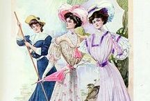 1900s fashion advertisements / vintage fashion advertisements from the 1900s featuring clothing, accessories, shoes, cosmetics, or jewelry  • magazine illustrations • catalogs