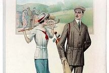1910s sportswear / │1910s vintage fashion │ sportswear for all sports │ tennis │ golf │ skating │1910-1919 │