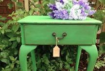 Websters and Greens! / This board features Websters Chalk Paint Powder mixed with our favorite shades of GREEN!