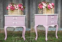Websters & Pinks, Purples, Violets! / Websters Chalk Paint Powder mixed with our favorite shades of pink, purple & violet!